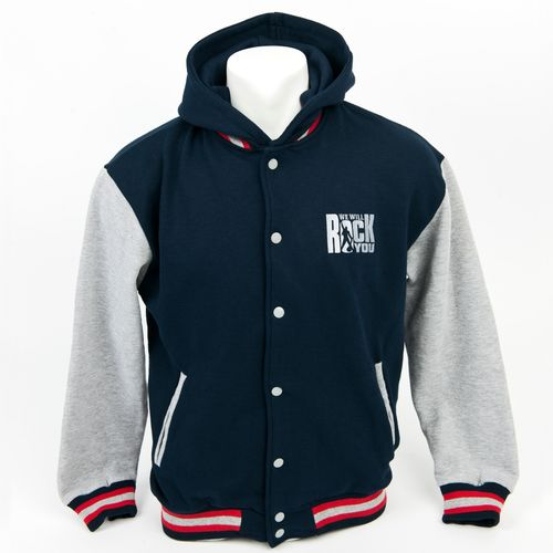We Will Rock You: We Will Rock You Hooded Baseball Jacket - Small