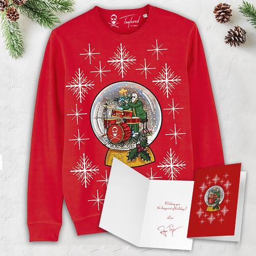 Roger Taylor: 'Taylored' Snow Globe Christmas Sweatshirt & Christmas Card