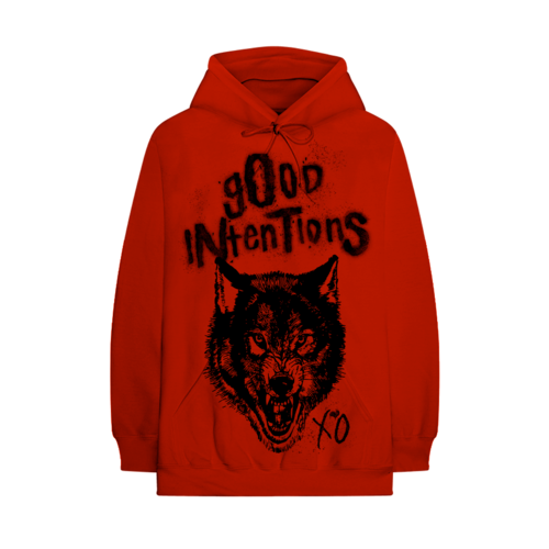Nav: NWO WOLFPAC GOOD INTENTIONS RED HOODIE + DIGITAL ALBUM