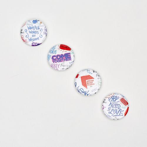 Abbey Road Studios: Abbey Road Studios Graffiti Badges 38mm - Set of 4