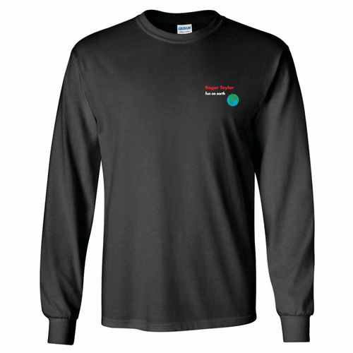 Roger Taylor: Roger Taylor Fun On Earth Embroidered Charcoal Long Sleeve T-Shirt - Small