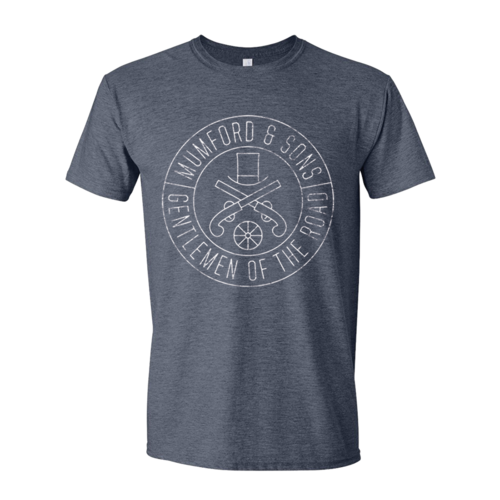 Mumford & Sons : Gun Seal T-shirt (Heather Navy)