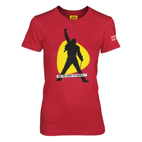 Freddie For A Day: Are You Ready To Freddie ?! Red Fitted T-Shirt - Small