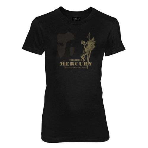 Freddie Mercury: Messenger Of The Gods Black Fitted T-Shirt - Small
