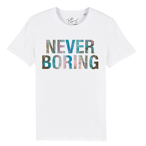 Freddie Mercury: Never Boring White T-Shirt