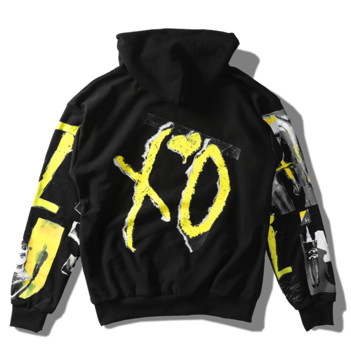 The Weeknd: XO COLLAGE LOGO PULLOVER HOOD