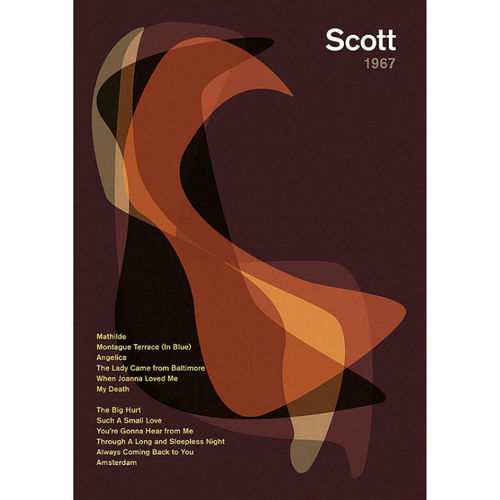 Scott Walker: 'Scott' Album Art Literary Print
