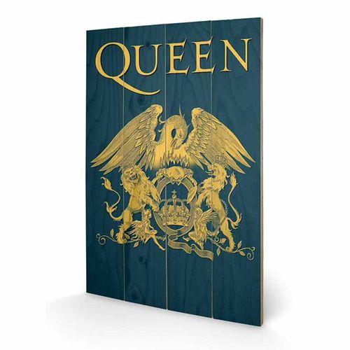 Queen: Queen 'Crest' Wooden Print