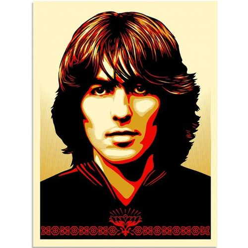 George Harrison: Shepard Fairey 'Poster For George' Standard Red Edition