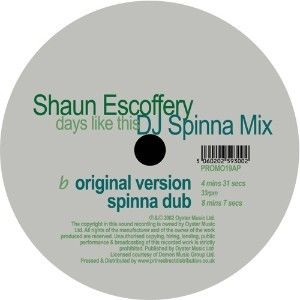 Shaun Escoffery: Days Like This (DJ Spinna Mix) LP
