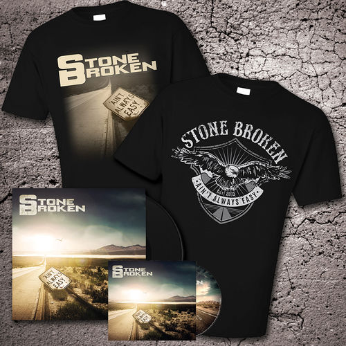 Stone Broken: Deluxe Version Bonus Tracks Version CD, Vinyl & Two T-Shirt Bundle