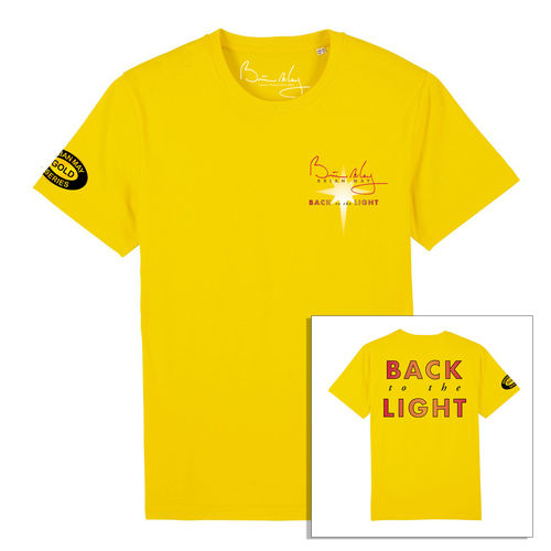Brian May: Back To The Light Front and Back Print Yellow