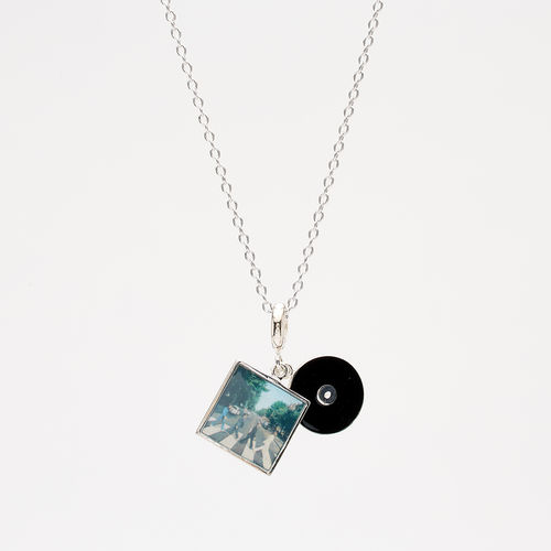 Abbey Road Studios: The Beatles Abbey Road Cover Sterling Silver Charm Dangle on Silver Chain
