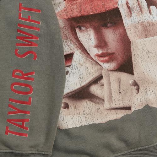 Taylor Swift: Album Cover Grey Crewneck