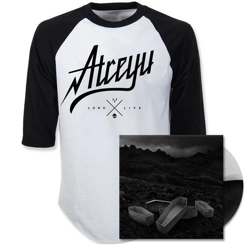 Atreyu: Script Baseball Shirt And Vinyl Bundle