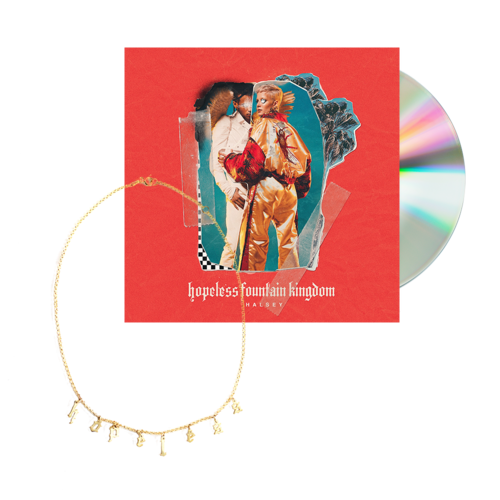 Halsey: hopeless fountain kingdom cd + necklace