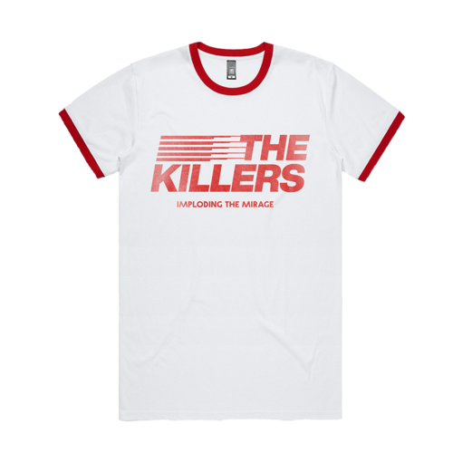 The Killers: ITM Stripe Ringer T-Shirt (Red)