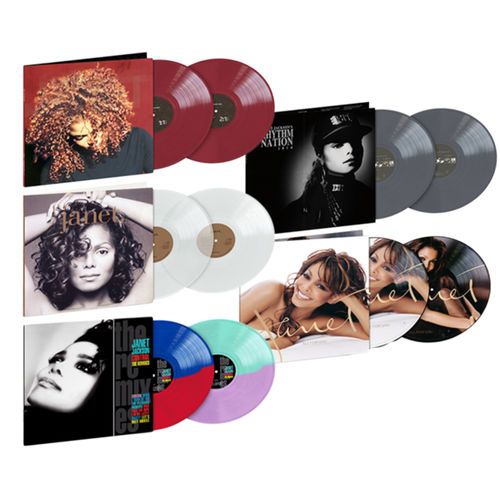 Janet Jackson: Exclusive Five Album Coloured Vinyl Bundle