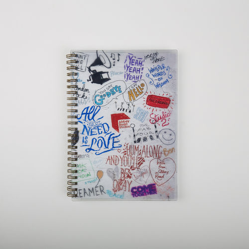 Abbey Road Studios: A5 Wiro Notebook The Beatles Graffiti