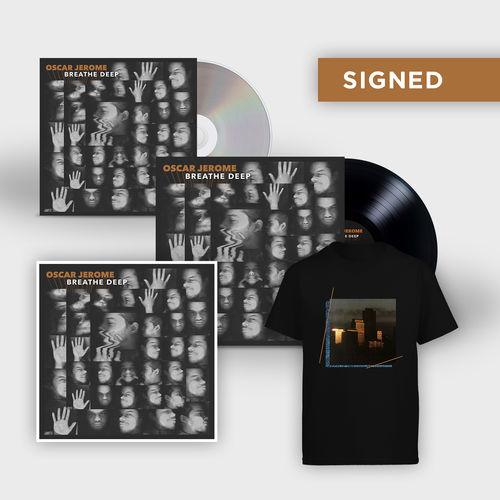 Oscar Jerome: Breathe Deep: Signed Print, Vinyl, CD + T-Shirt