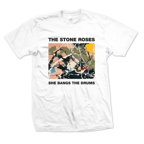 The Stone Roses: She Bangs The Drums White T-Shirt