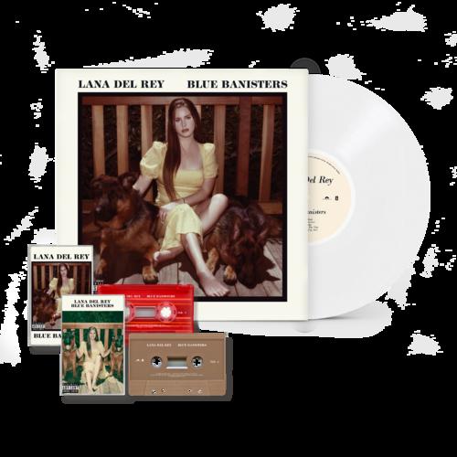 Lana Del Rey: BLUE BANISTERS WHITE VINYL + CASSETTE BUNDLE