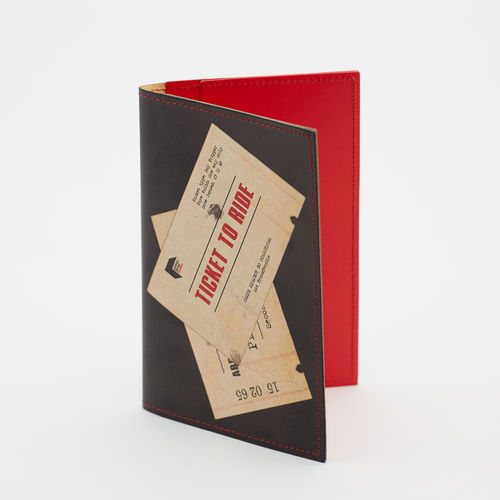 The Beatles: Leather Passport Holder - Ticket To Ride