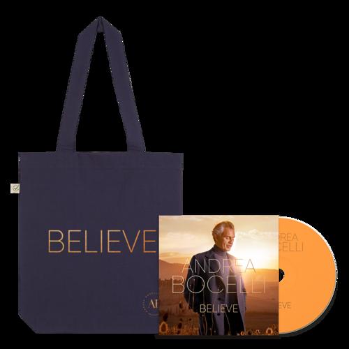 Andrea Bocelli: Believe CD & Tote Bundle