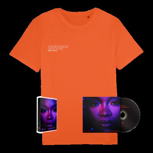 RAY BLK: Access Denied Signed CD, Cassette + Orange Tee Bundle