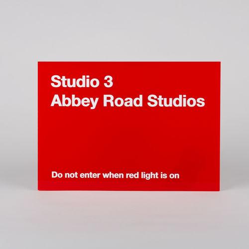 Abbey Road Studios: Studio Three Replica Red Perspex Sign