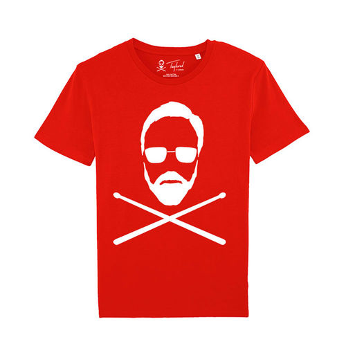 Roger Taylor: 'Taylored' Full Front Print T-Shirt Red
