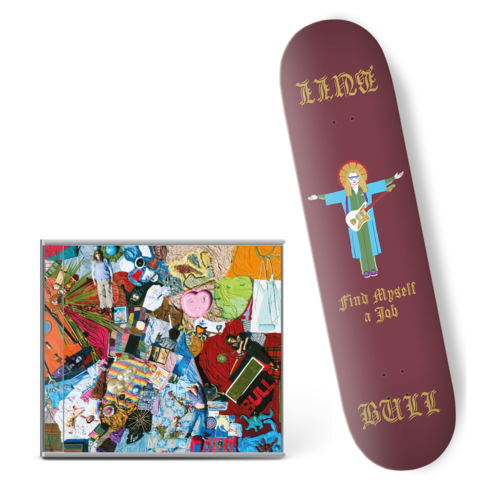 Bull: 'Find Myself A Job' Skateboard Deck + CD bundle.