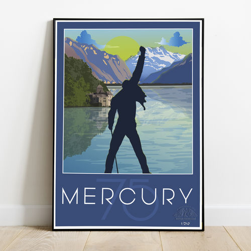 Freddie For A Day: Freddie Mercury Hand Numbered 75th Birthday Collectors Art Print