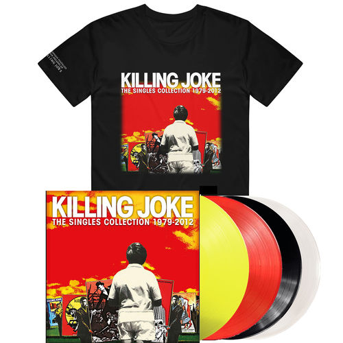 Killing Joke: The Singles Colection Coloured Vinyl & T-Shirt Bundle