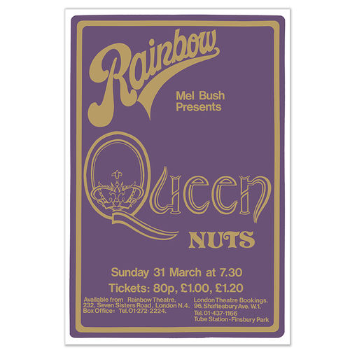 Queen: Live At The Rainbow Silk Screen Print
