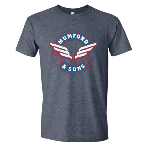 Mumford & Sons : Wing Emblem T-Shirt