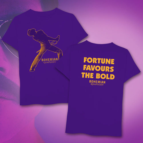 Queen: 'Fortune' Print Purple T-Shirt