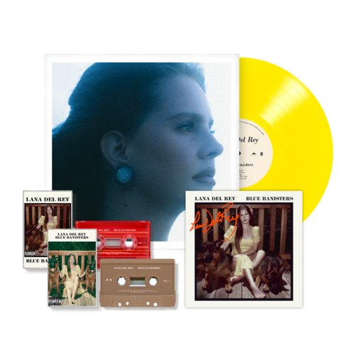 Lana Del Rey: BLUE BANISTERS YELLOW VINYL + CASSETTE BUNDLE (SIGNED)