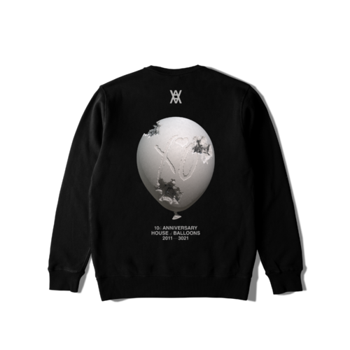 The Weeknd: DANIEL ARSHAM X THE WEEKND HOUSE OF BALLOONS ERODED BALLOON CREWNECK SWEATER