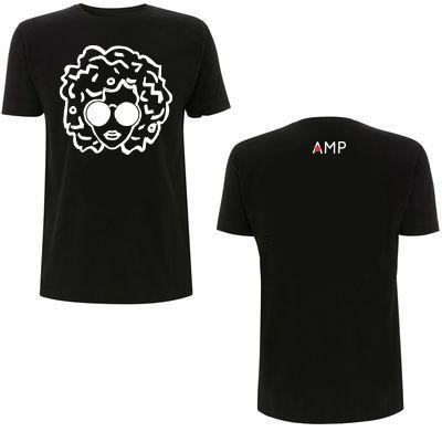 Annie Mac: AMP Annie Logo Head Black & White Tee