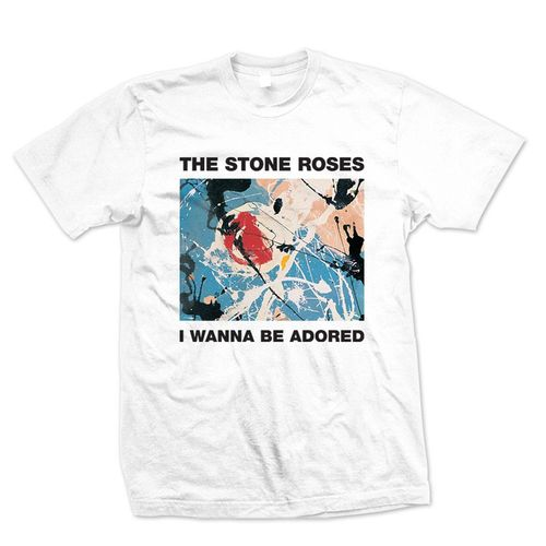 The Stone Roses: I Wanna Be Adored White T-Shirt
