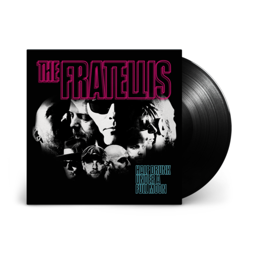 The Fratellis: Half Drunk Under a Full Moon: Black Vinyl LP + Signed 12x12
