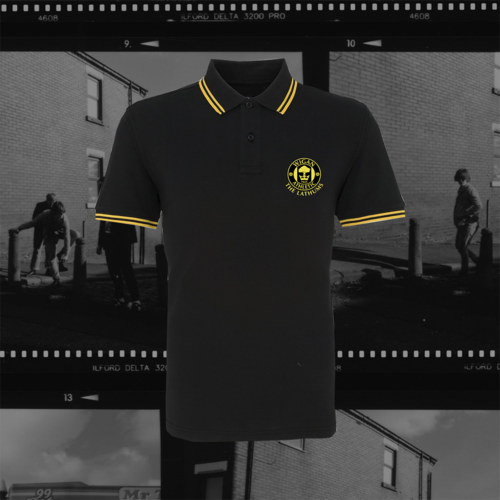 The Lathums: The Lathums x Wigan Athletic: Black Polo Shirt, Exclusive Black Vinyl + CD