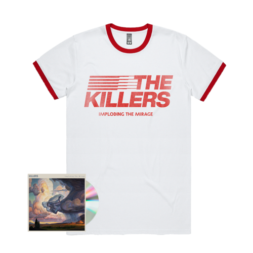 The Killers: ITM STRIPE RINGER T-SHIRT + CD
