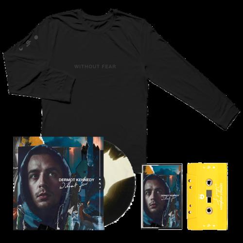 Dermot Kennedy: Blue Cassette, Marbled LP + Black on Black Hoodie