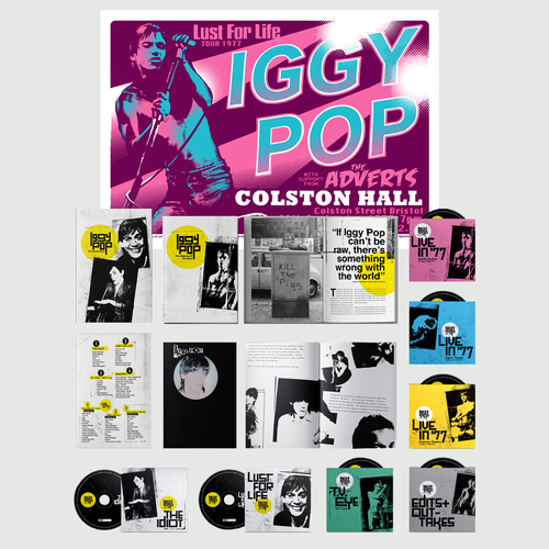 Iggy Pop: The Bowie Years: 7CD Boxset + Exclusive Numbered A2 Screenprint [signed by Chris Hopewell]