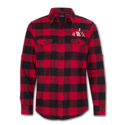 Royal Thunder: Wick Men's Flannel Shirt Red