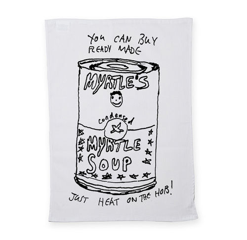 John Myrtle: Myrtle Soup: Screen-Printed Tea Towel