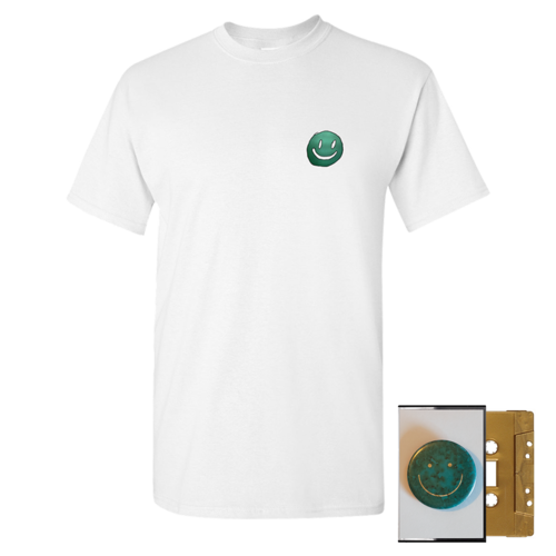 Mac DeMarco: Smiley Face White T-Shirt + Gold Cassette