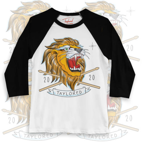 Roger Taylor: Taylored 2020 Lion Black Baseball Shirt